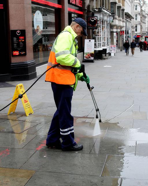 pressure washing streets